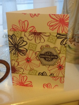 One sheet wonder card using Stampin Up! Products