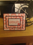 Triple mounted card using Stampin Up! Petal Parade stamp set from SAB