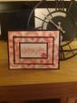 Triple mounted card using Stampin Up! Petal Parade stamp set from SAB