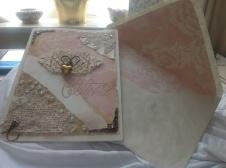 Bespoke Wedding Card and matching envelope