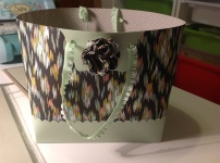Stampin Up! SAB DSP gift bag made from 1 sheet DSP and one A4 CS