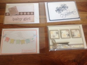 Baby girl, blue pansy, Happy Birthday bunting & triple square