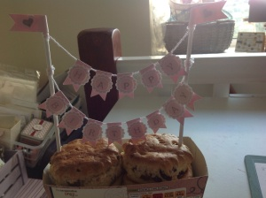 Sorry it's not in some gorgeous cake just a couple of bough scones! Hope you get the idea!!