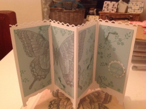 Screen Style Card using Swallowtail Butterfly Stamp from Stampin Up!