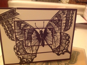 Triple layer Swallowtail Butterfly stamp from Stampin Up!